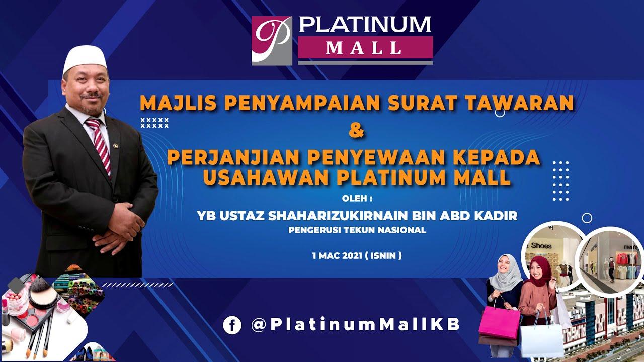 Majlis Penyampaian Surat Tawaran & Perjanjian Penyewaan kepada Usahawan Platinum Mall