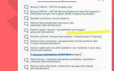 Senarai Semak Dokumen yang Diperlukan untuk Membuat Permohonan Pembiayaan di TEKUN Nasional
